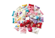Baby Girls Cotton Rich NON SKID Socks Multicoloured One Size Age 1 2 3 Years old Set C