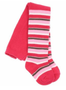 Bright Bots Baby Girl Cosy Warm Funky Striped Tights size 18-24 months - Pink Stripes