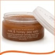 CUCCIO NATURALE MILK & HONEY EXFOLIATING SEA SALTS 240g