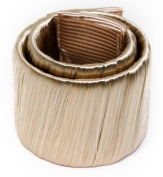 Womens/Girls Synthetic Hair Self Wrapping Pony Tail Cuff Hair Tie Ring Elastic -- Dark Blonde