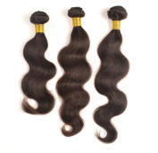 Mixed lengths 3pcs/lot,300g, brazilian virgin hair extensions 100% unprocessed human Body wave natural colour