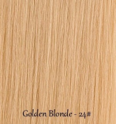Miss Lilac 100% Human Clip in Hair Extensions Single Piece 46cm - #24 Golden Blonde