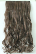 50cm 60cm 3/4 Full Head Clip in Hair Extension NOT Human Hair One Piece 5 Clips