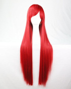 Womens/Ladies 80cm RED Colour Long STRAIGHT Cosplay/Costume/Anime/Party/Bangs Full Sexy Wig