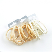 18 x Shiny Blonde Hair Elastics/ Bobbles/ Ponios