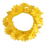 Girls Yellow Daisy Bun Garland Hair Band IN4660