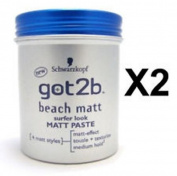 Got2B Schwarzkopf Beach Matt Surfer Look Paste 2 X 100 Ml = 200Ml