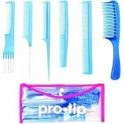 Pro Tip PTCKB College Comb Kit 6 x Combs and Clear Wallet Blue - DENPTCKB