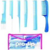 Pro Tip PTCKB College Comb Kit 6 x Combs and Clear Wallet Blue - DENPTCKB