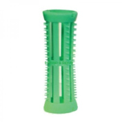 SKELOX Plastic Hair Rollers/ Curlers 12 x 18mm Green + Free Pins!