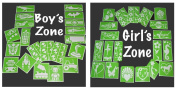 Assorted Girls & Boys Stencil Set