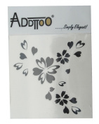 Addttoo Temporary Tattoo Bouquet Bursting with Hearts and Flowers Design Colour-Black