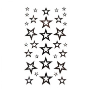Tattoo sticker fashion sexy black five-pointed star totem