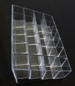 Clear 24 Makeup Lipstick Cosmetic Storage Display Stand Rack Holder Organiser
