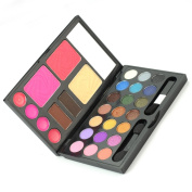 21 Colours Combo Eyeshadow Makeup Kit Cosmetics Palette Set Lip Gloss Powder Cake