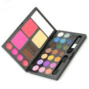 21 Colours Combo Eyeshadow Makeup Kit Cosmetics Palette Set Lip Gloss Powder Cake
