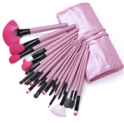 Lychee Beautiful 24pcs Soft Professional Makeup Brushes Cosmetic Make Up Brush Set Kit Foundation with Free Faux Leather Pouch Bag Case