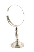 Danielle Satin Nickel Pedestal Mirror