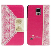 Bocideal 1pc Hot Pink Cute Flip Wallet Leather Case