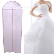 Accessotech 180cm Waterproof Wedding Dress Bridal Gown Garment Cover Storage Bag Carrier Zip