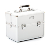 Urbanity Classic Silver Professional Aluminium Beauty Cosmetics and Makeup Case