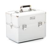 Urbanity Classic Silver Professional Aluminium Beauty Cosmetics and Makeup Case