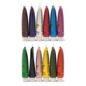 12 Colours Pro Acrylic Paint Nail Art 3D Painting Pigment Design Tips Tube Set by KurtzyTM