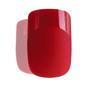 False Nails - Matte Red - French Manicure 24 Full Cover Medium Tips Free Glue UK