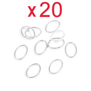 Five Season 20pcs 3D Round Shape DIY Decal Sticker Decoration Manicure Nail Art Tip--Silver