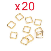 Five Season 20pcs 3D Square Shape DIY Decal Sticker Decoration Manicure Nail Art Tip