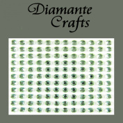132 x 5mm Light Green Diamante Self Adhesive Rhinestone Body Vajazzle Gems - created exclusively for Diamante Crafts