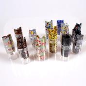 Five Season 12PCS Mix Designs Nail Art Transfer Foil Roll Set Craft Sticker Tips Toe Decoration Without Adhesive