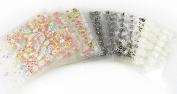 15 SHEETS 3D NAIL ART TRANSFER STICKERS MIXED COLOURS AND DESIGNS