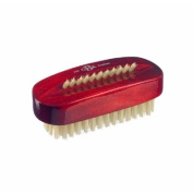 Kent Brushes Natural White Bristle Nail Brush Red