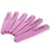 6 x 2 Sides Nail Art 100/ 180 Pink Sanding File Buffer Manicure Tools