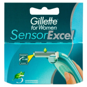 Gillette Sensor Excel For Women Refill Razor Blade Cartridges - Pack of 5