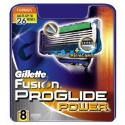 8 Gillette Fusion Proglide Power blades up to 26 weeks shaving 100% Genuine