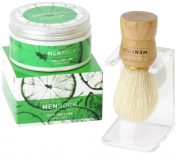 Men Rock Sicilian Lime Shave Cream with Brush and Drip Stand