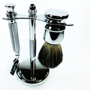 MAC 3 SHAVING GIFT SET...QUALITY HEAVY GAUGE CHROME PLATED GIFT SET