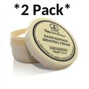 2 PACK - Taylors of Old Bond Street Shaving Cream 150g, Sandalwood