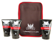 THE GENTRY GROOMING CO MENS TRAVEL GIFT SET - FACE WASH - FACE BALM - SHAVE CREAM & WASH BAG
