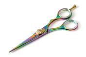 CANDURE® - Professional Hairdressing Scissors 14cm , RAINBOW COLOUR + Case