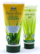 Aloe Pura Aloe Vera After Sun Lotion + Aloe Vera Gel 200ml + 100ml