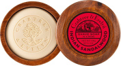 Crabtree & Evelyn Indian Sandalwood Shave Soap In Wooden Bowl 100 g