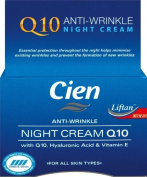 Cien Anti-Wrinkle Night Cream With Q10 Hyaluronic Acid & Vitamin E, For All Skin Types, 50ml