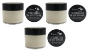 3x I Love...Vanilla & Ice Cream Glossy Lip Balm 15ml