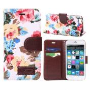Ukamshop(TM)1PC Magnetic Wallet Flip Floral Leather Cover Case For iPhone 6 6G 4.7