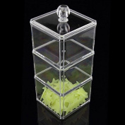 Makeup Craft Cosmetic Clear Acrylic makeup storage Cotton Wool Bud Dispenser acrylic makeup Organiser makeup Container Display