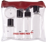 7 Piece Air Travel Bottle Set