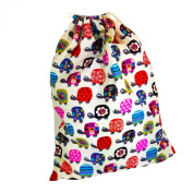 Kids Cotton Drawstring Gym/Swim/Shoe Bag - Turtles
